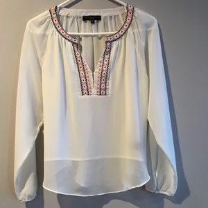 Women's Blouse with Stitching Detail